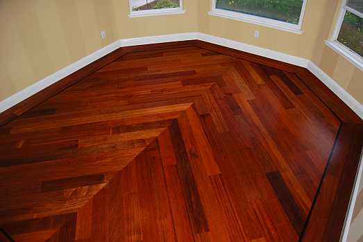 MERBAU CHEVRON DESIGN - Chris Haltom Hardwood Floors Inc.